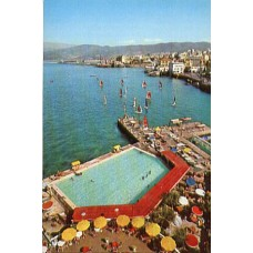 Postcard, Lebanon, Liban, Genuine 1960's Beirut, Beyrouth, Saint-Georges Yacht Motor Club