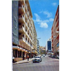 Postcard, Lebanon, Liban, Genuine 1960's Beirut, Beyrouth - Quarter of the Big Hotels and Night-Clubs / Beyrouth Moderne, Quartier des Grands Hotels et Boîtes de nuits